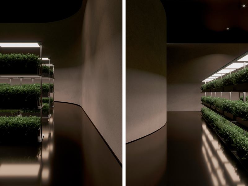 Room for growing food, Image and concept by Makhno Studio