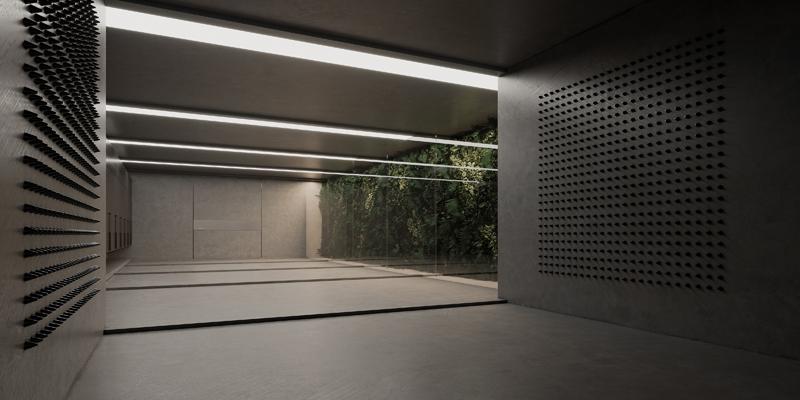 חדר כניסה לחיטוי, אדריכלות, הדמיה וקונספט :סטודיו מקנו