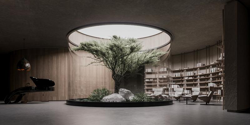 הסלון והספריה, הדמיה וקונספט :סטודיו מקנו