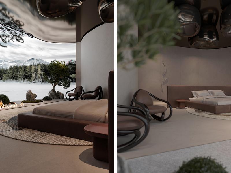 חדר שינה מאסטר, אדריכלות, הדמיה וקונספט :סטודיו מקנו