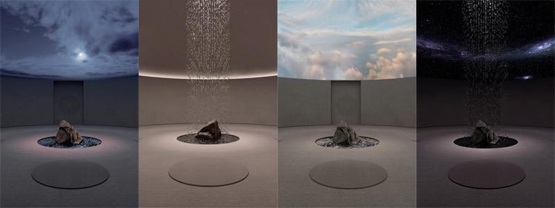 חדר מדיטציה עם תאורת אוירה חכמה וניתנת לשינוי. אדריכלות, הדמיה וקונספט :סטודיו מקנו