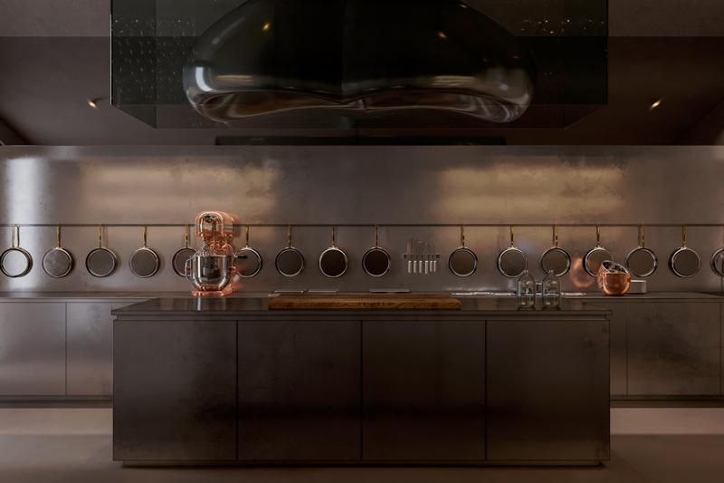 מטבח שף מאובזר, בישול יכול להפוך בתנאים אלה לתחביב. אדריכלות, הדמיה וקונספט :סטודיו מקנו
