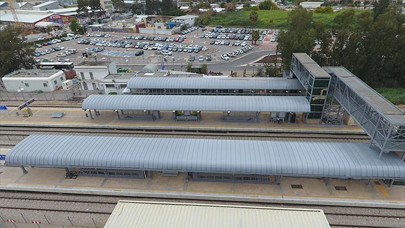 תחנת הרכבת בקריית גת , קירוי על ידי מערכת טופגל בעובי 10 מ