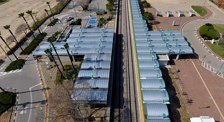 תחנת הרכבת בקיסריה, צד מערב, מערכת טופגל בעובי 10 מ