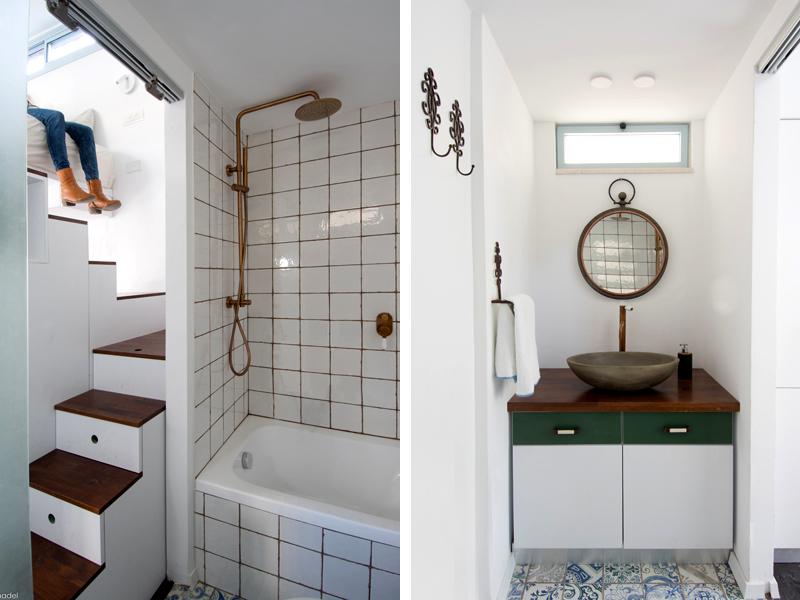חדר האמבטיה והשירותים. צילום: נדל רויזין אדריכלים
