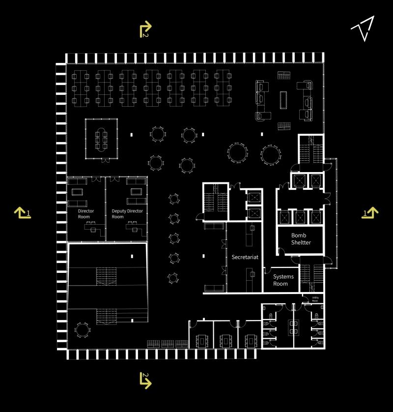 קומה 3 – משרדים, הדמיות: אור גולני
