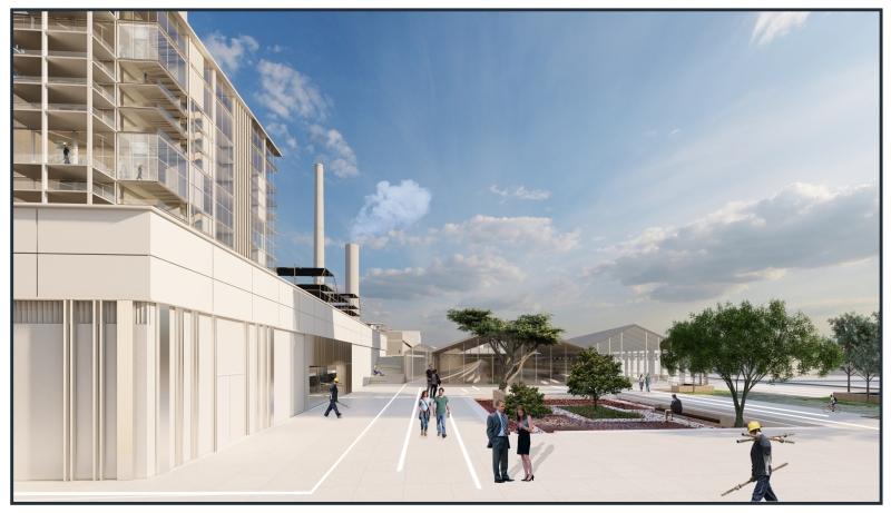 הדמיית מפעל בשילוב עם הציבור, קרדיט: לידור מזרחי