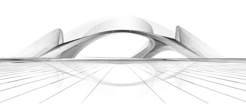 Striatus concept render white. Photo: ZHA