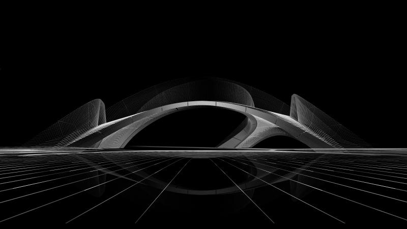 Striatus concept render black. Photo: ZHA