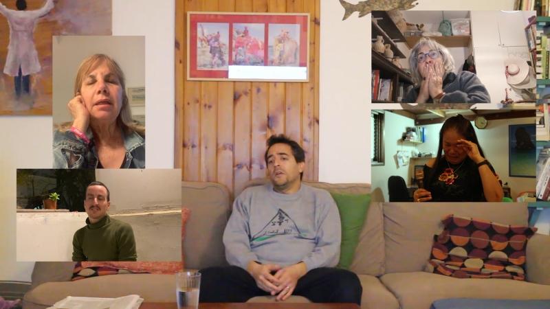 עוז זלוף, גישה חיובית- שיחה עם אמא, 2021, טילס מתוך וידאו. קרדיט צילום: באדיבות האמן