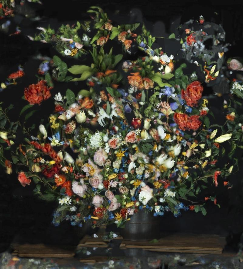 עבודה של אורי גרשט בתערוכה הבינלאומית בגן הבוטני. צילום באדיבות: אורי גרשט