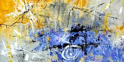 ציורי נוף אקספרסיביים בבטון