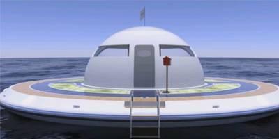 השראה יומית - מבנה צף לבילוי ופנאי עם נוף לקרקעית הים