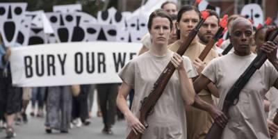 הלוויה סמלית לכלי נשק בפילדלפיה -  תערוכת יחיד ליעל ברתנא