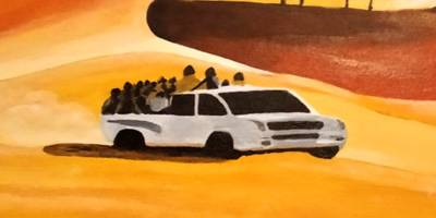 אמנים ישראלים ואמנים מבקשי מקלט מציגים יחד