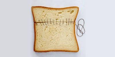 לחם עבודה- השראה יומית, יצירות בפרוסות לחם לבן