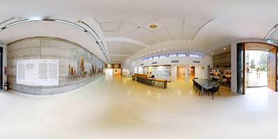 סיור וירטואלי תלת ממדי סורק את חלל מוזיאון הרצליה לאמנות