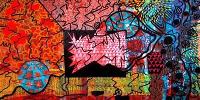 צבעוניות מתפרצת בציורים גדולי מימדים