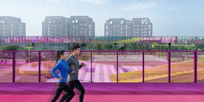 מתחם ספורט מרחף מעל קניון בסין | פרוייקט חול