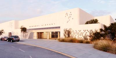 מינימליזם ים תיכוני בשדה התעופה של מיקונוס | פרוייקט חול