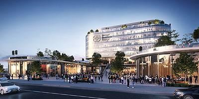 מתחם משרדים חדש יבנה ראשון לציון ויתוכנן עי אדריכל אילן פיבקו