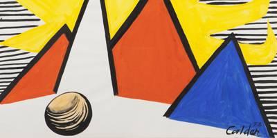 שמש גדולה צהובה - תערוכת יחיד של האמן אלכסנדר קאלדר
